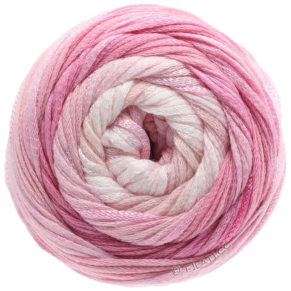 Lana Grossa ALLEGRO Degradé | 201-color crudo/rosa delicada/rosa/clavel/rosa vívida