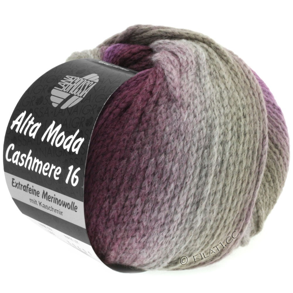 Lana Grossa ALTA MODA CASHMERE 16 Degradé | 102-taupe/zarzamora/violeta