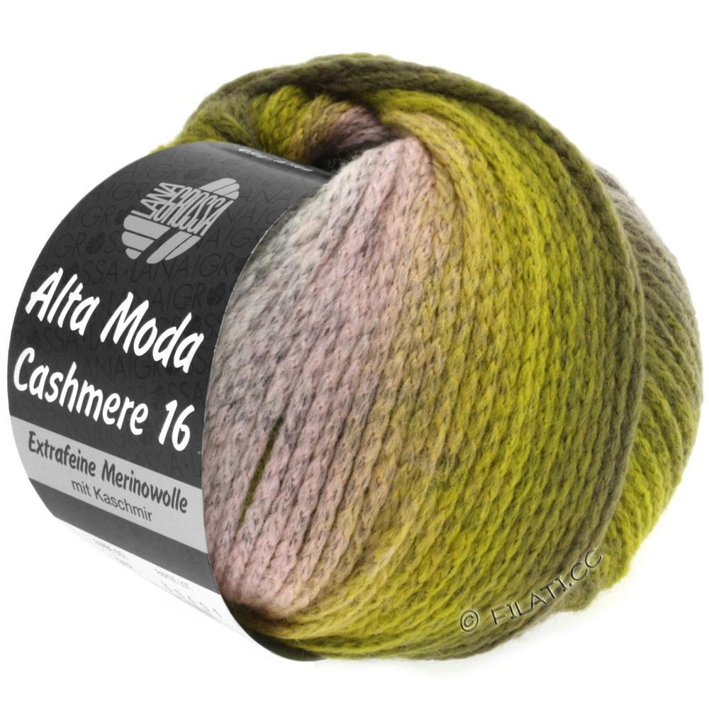 Lana Grossa ALTA MODA CASHMERE 16 Degradé | 103-rosa/gris claro/oliva/caqui