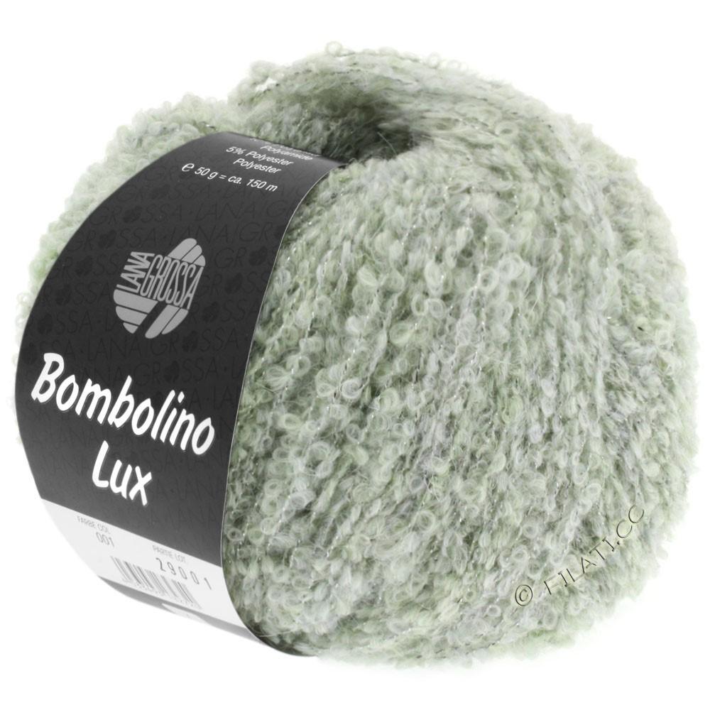 Lana Grossa BOMBOLINO Lux   007-verde delicado/plata