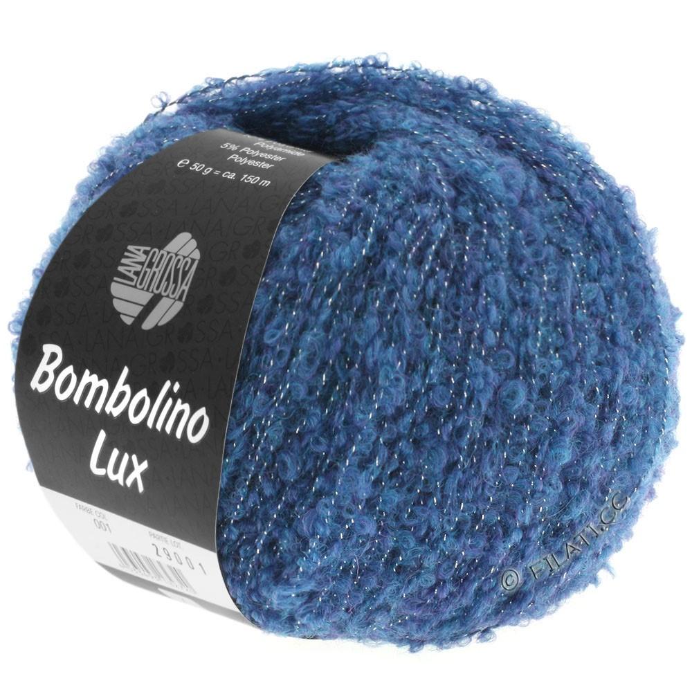Lana Grossa BOMBOLINO Lux   009-azul/plata
