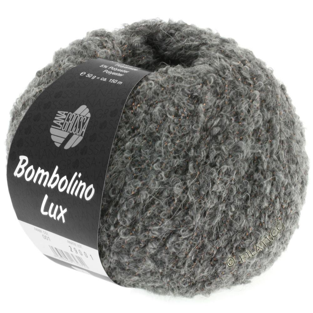 Lana Grossa BOMBOLINO Lux   011-gris/cobre