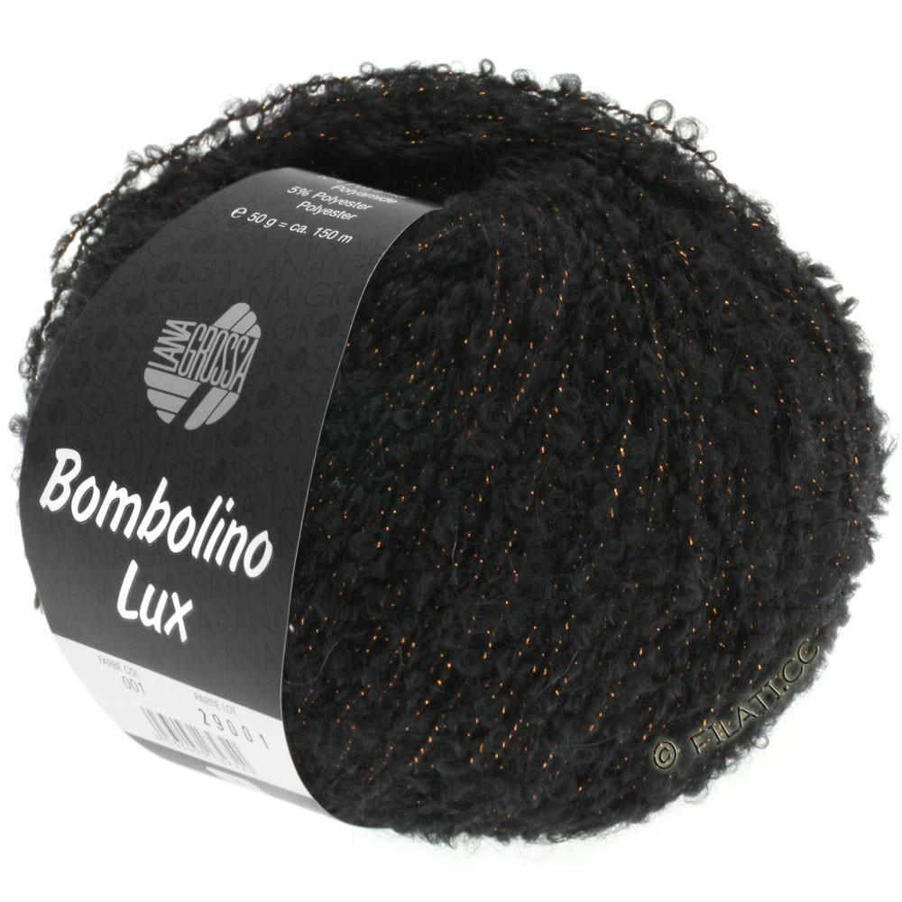 Lana Grossa BOMBOLINO Lux   013-negro/cobre