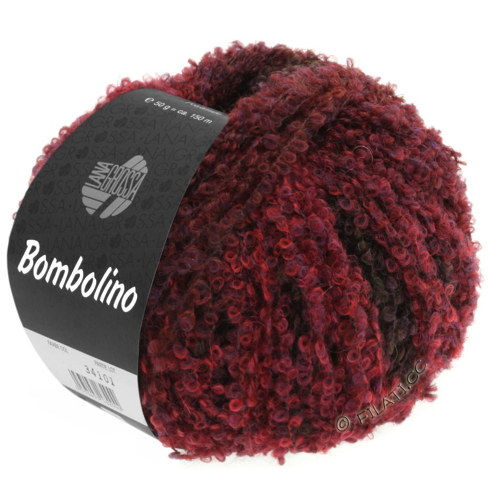 Lana Grossa BOMBOLINO Degradé | 108-rojo/violeta/marrón rojo