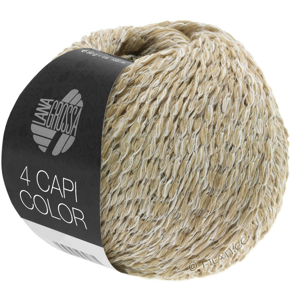 Lana Grossa 4 CAPI Color | 101-blanco/beige