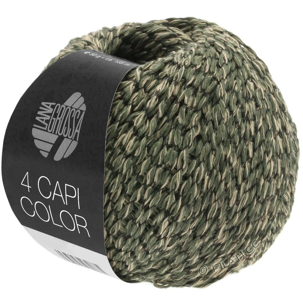 Lana Grossa 4 CAPI Color | 103-arena/cazador verde