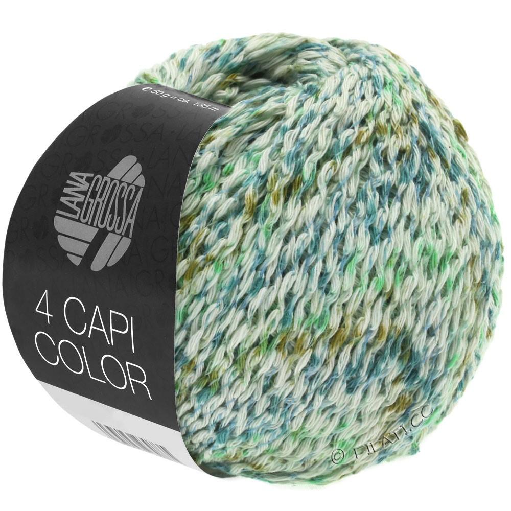 Lana Grossa 4 CAPI Color | 104-naturaleza/verde jade/turquesa/oliva