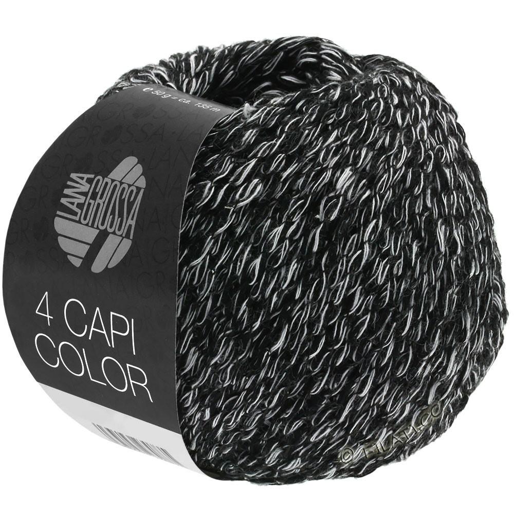 Lana Grossa 4 CAPI Color | 108-negro/blanco
