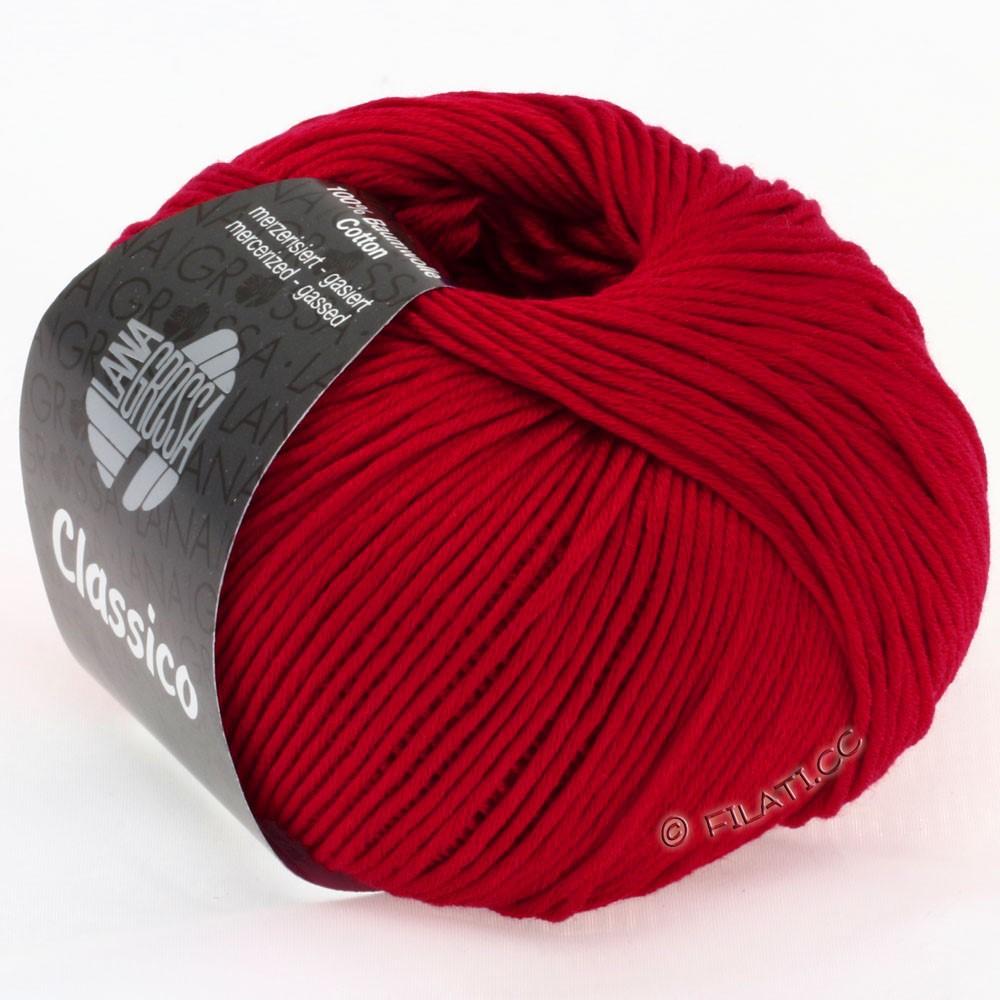 Lana Grossa CLASSICO Uni   05-rojo rubí