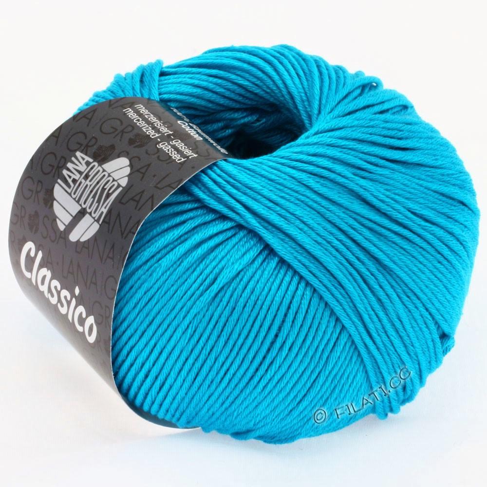 Lana Grossa CLASSICO Uni   14-azul turquesa
