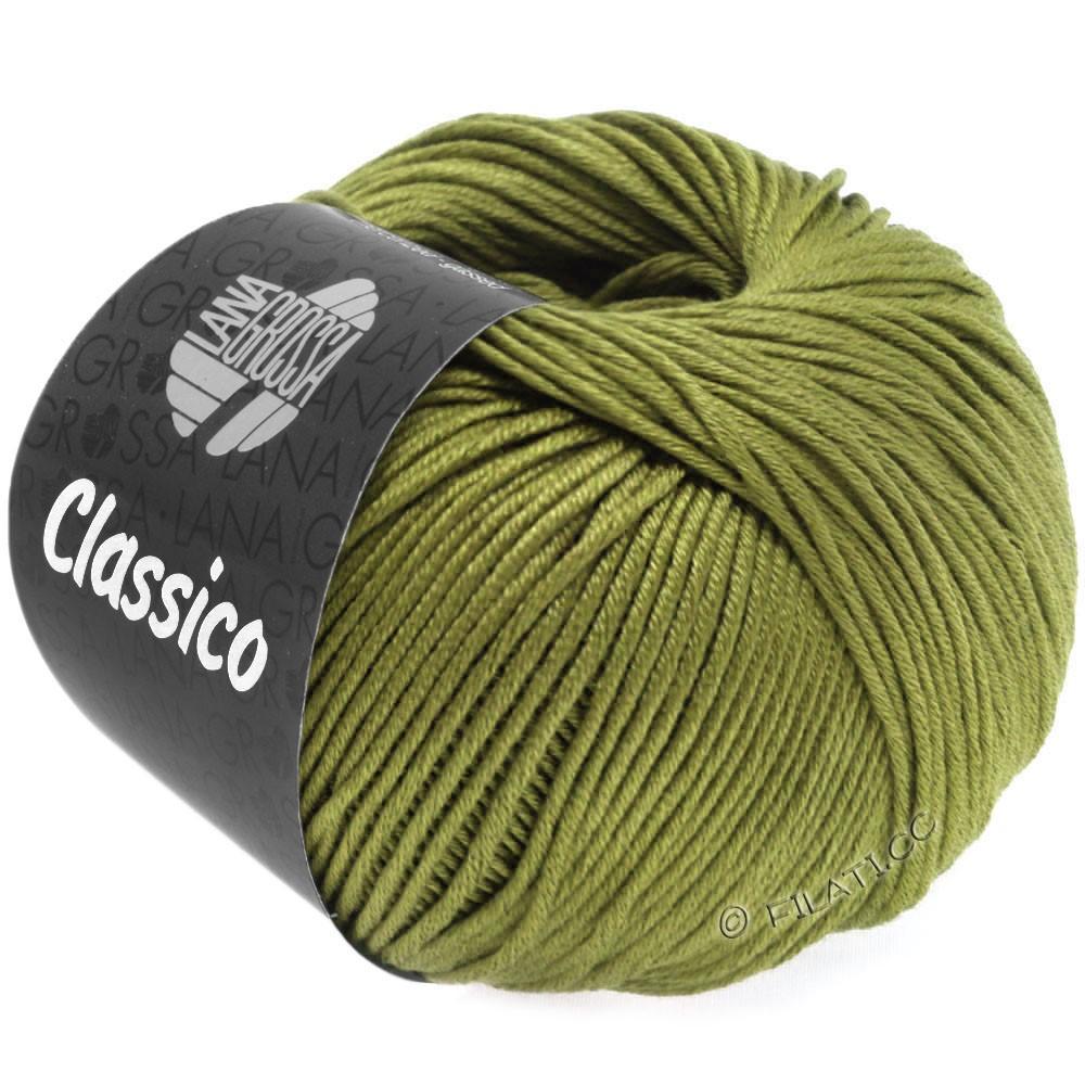 Lana Grossa CLASSICO Uni   62-verde oliva