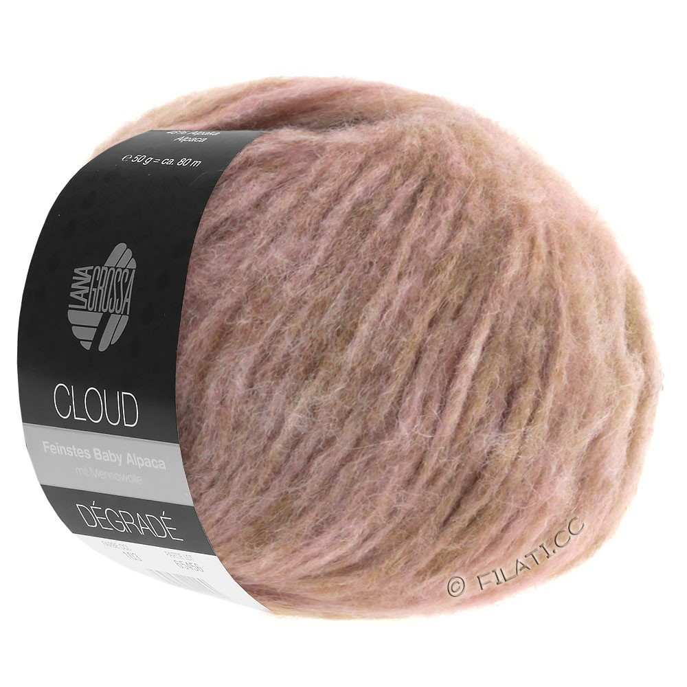 Lana Grossa CLOUD Degradé | 101-beige/palo de rosa/rosa vieja
