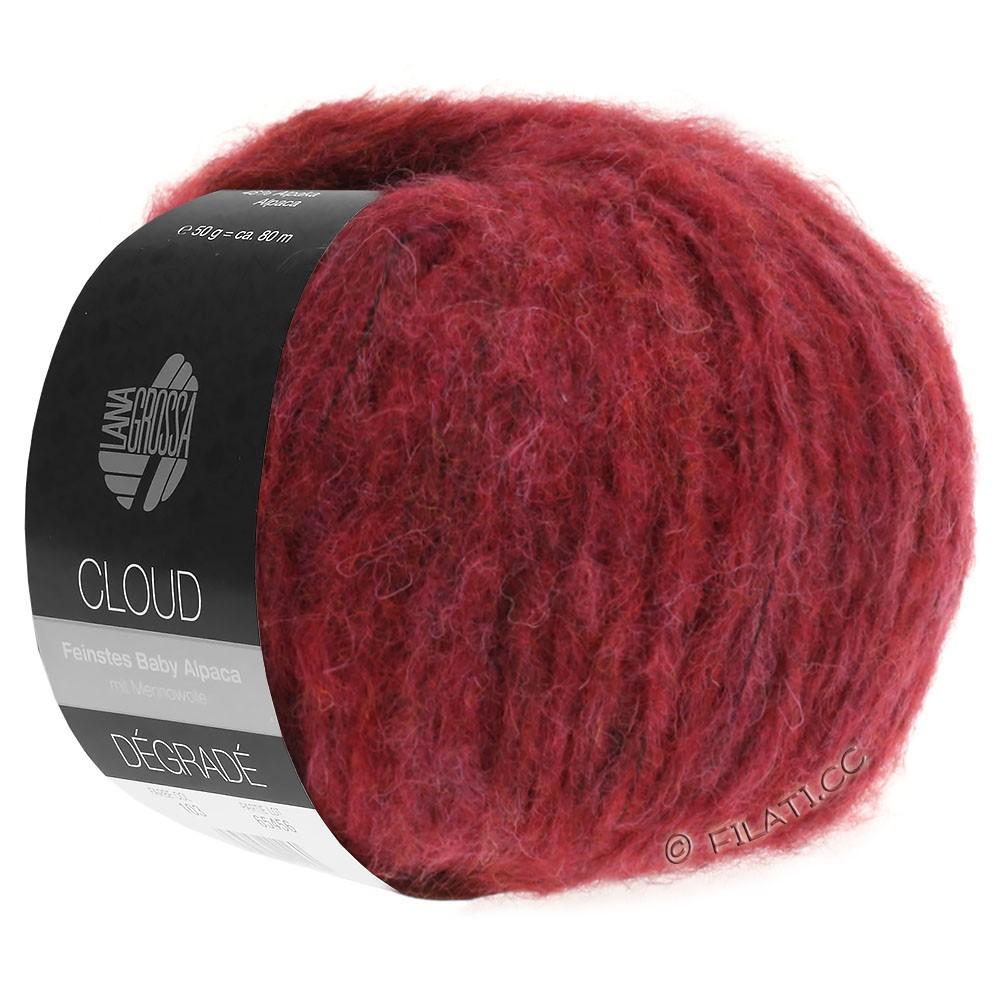 Lana Grossa CLOUD Degradé | 104-rojo violeta/rojo ladrillo