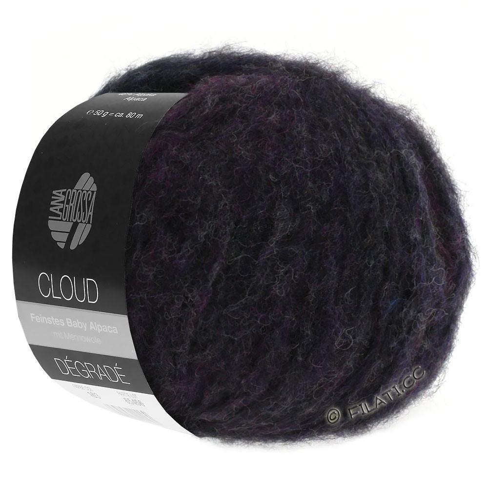 Lana Grossa CLOUD Degradé | 106-azul violeta/caqui