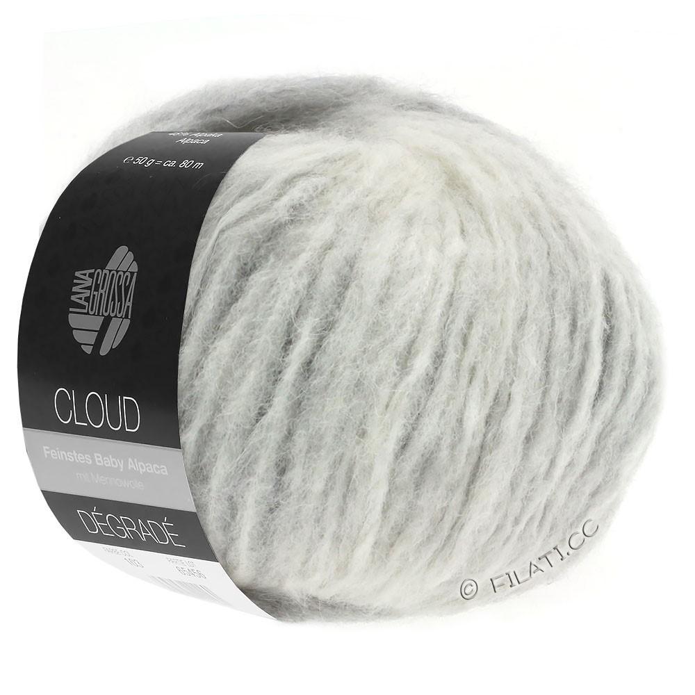 Lana Grossa CLOUD Degradé | 110-blanco/gris claro/gris medio