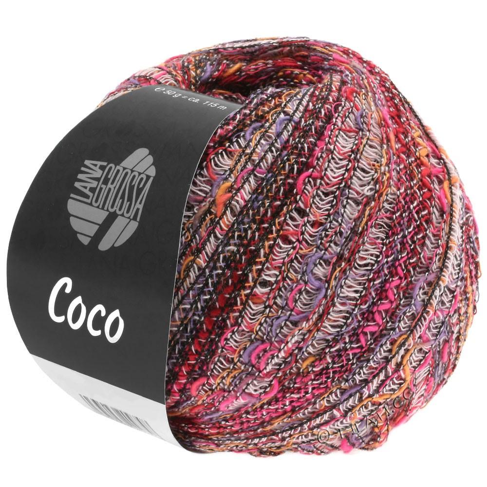 Lana Grossa COCO | 01-rosa vívida/purpura/rosé/naranja