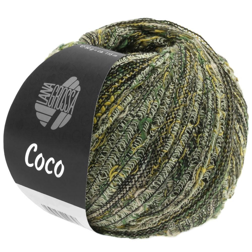 Lana Grossa COCO | 04-amarillo/verde oscuro/naturaleza/gris marrón