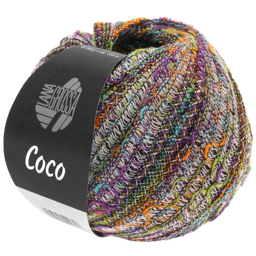 Lana Grossa COCO | 10-naranja/turquesa/rosa/pistacho/violeta