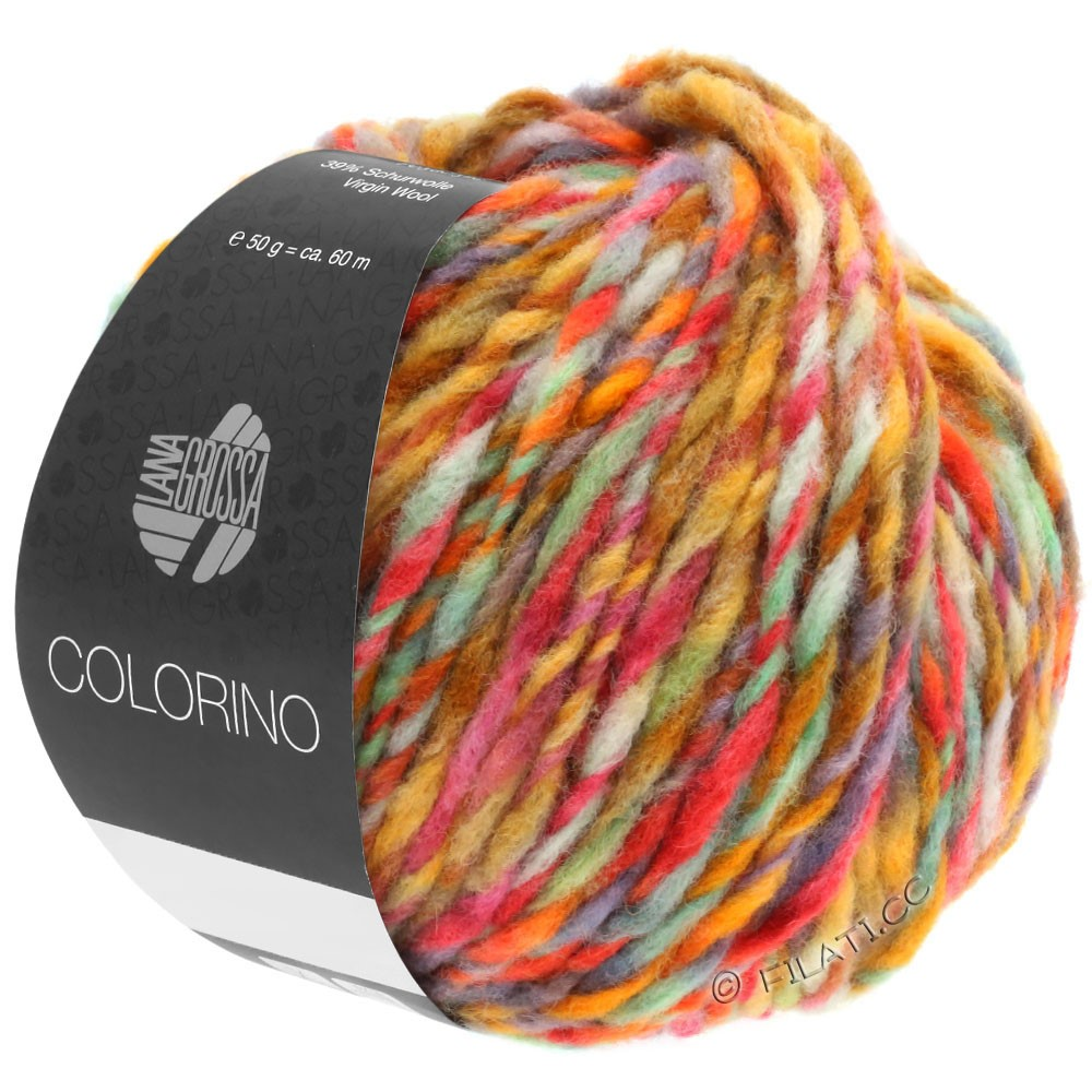 Lana Grossa COLORINO | 02-octanaje/verde claro/azul/marrón