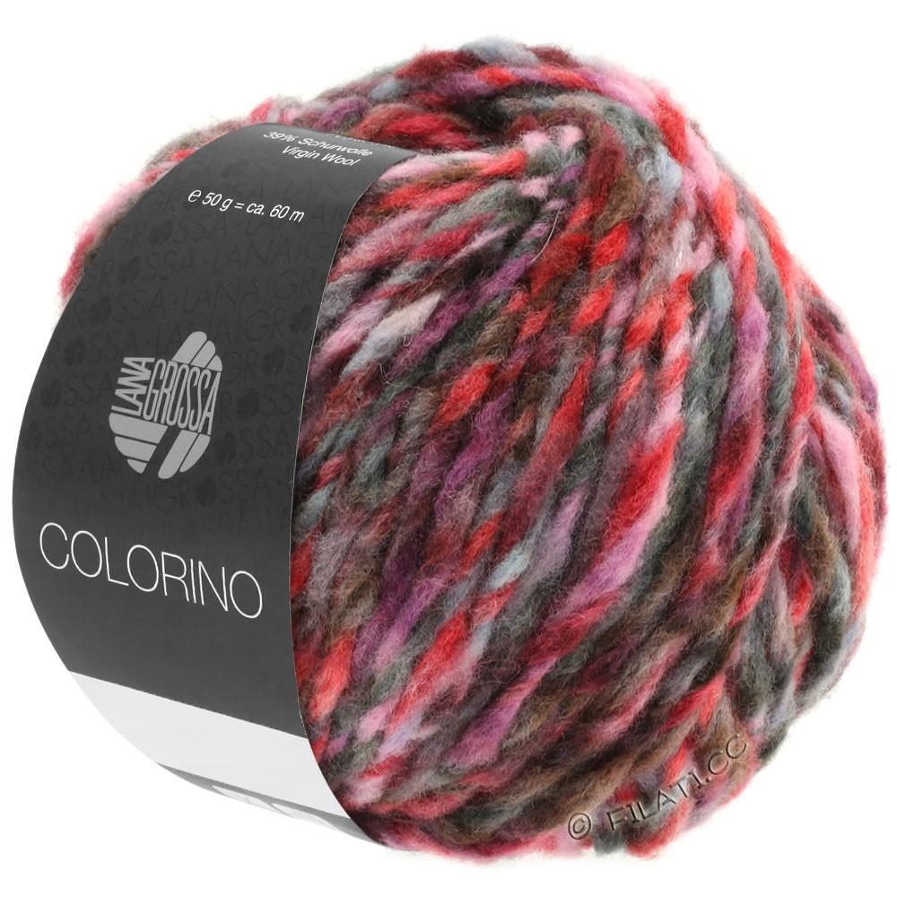 Lana Grossa COLORINO | 03-rojo/rosa/gris/borgoña/antracita
