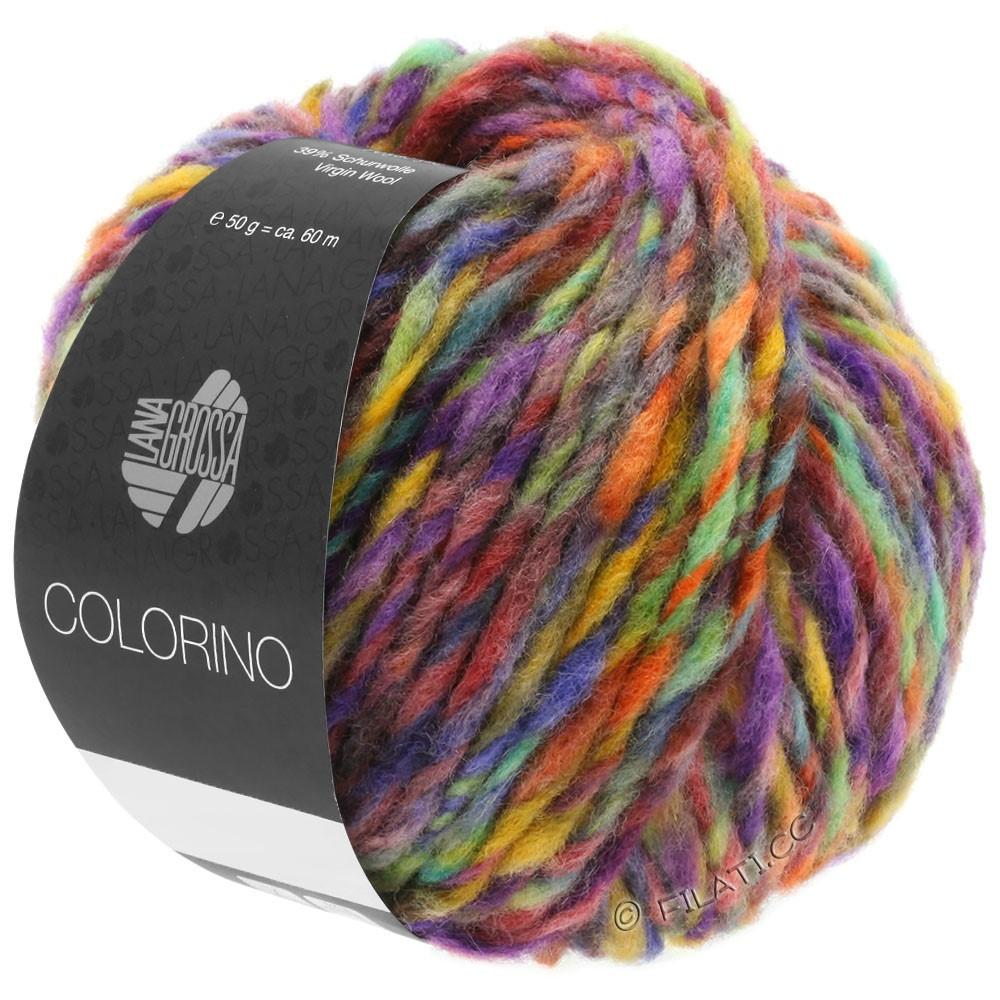 Lana Grossa COLORINO | 09-rojo violeta/azul violeta/octanaje/ocre/marrón oscuro