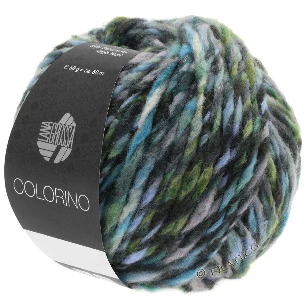 Lana Grossa COLORINO | 10-gris/antracita/azul claro/gris verde