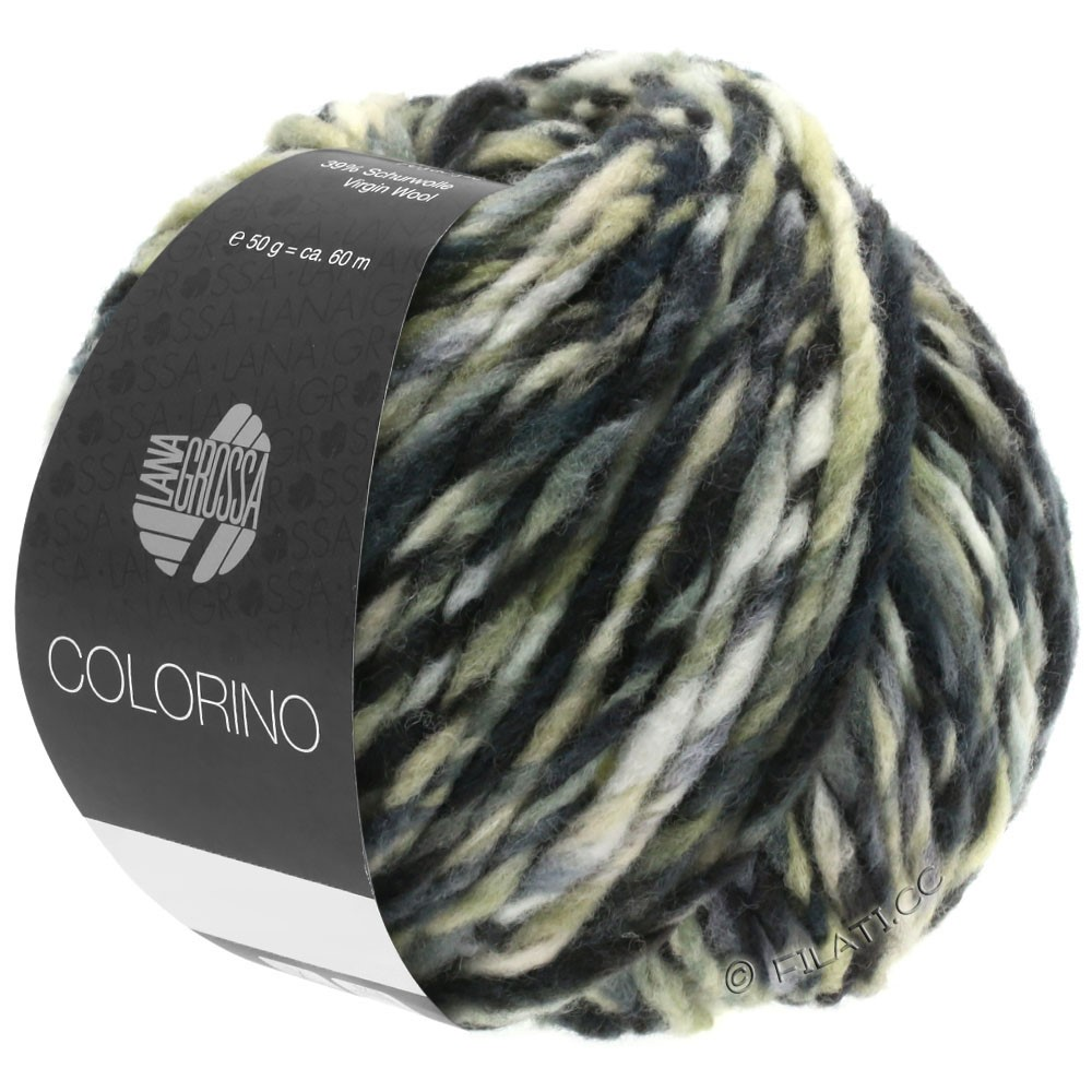 Lana Grossa COLORINO | 12-marrón oscuro/beige/gris/antracita