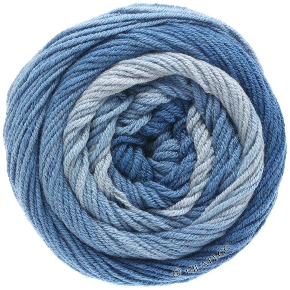 Lana Grossa ELASTICO Degradé | 703-azul claro/azul medio/azul oscuroro