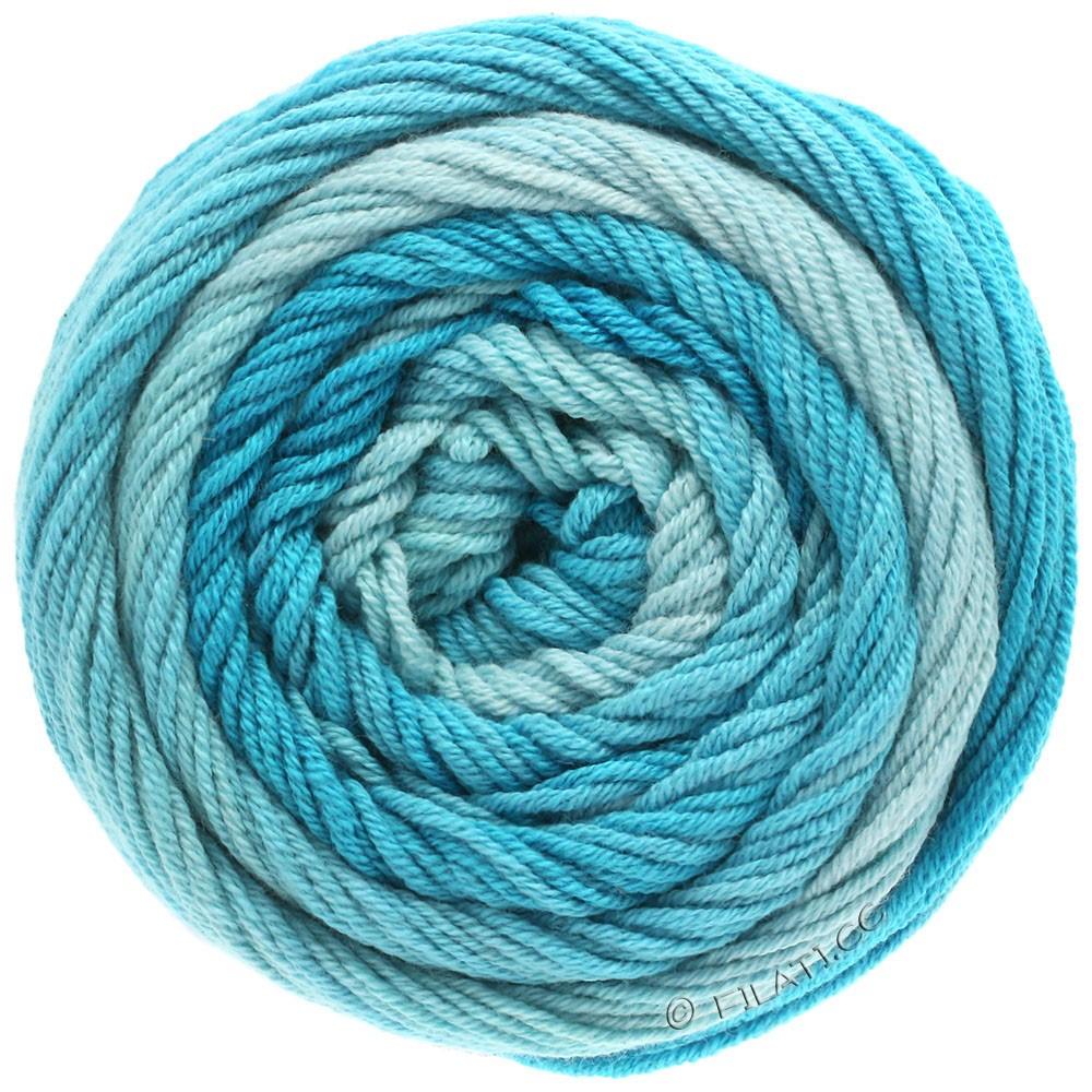 Lana Grossa ELASTICO Degradé | 704-azul claro/turquesa pastel/azul turquesa