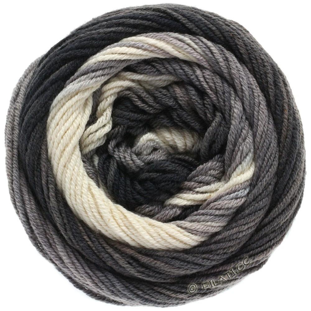 Lana Grossa ELASTICO Degradé | 709-naturaleza/gris claro/gris medio/antracita/negro