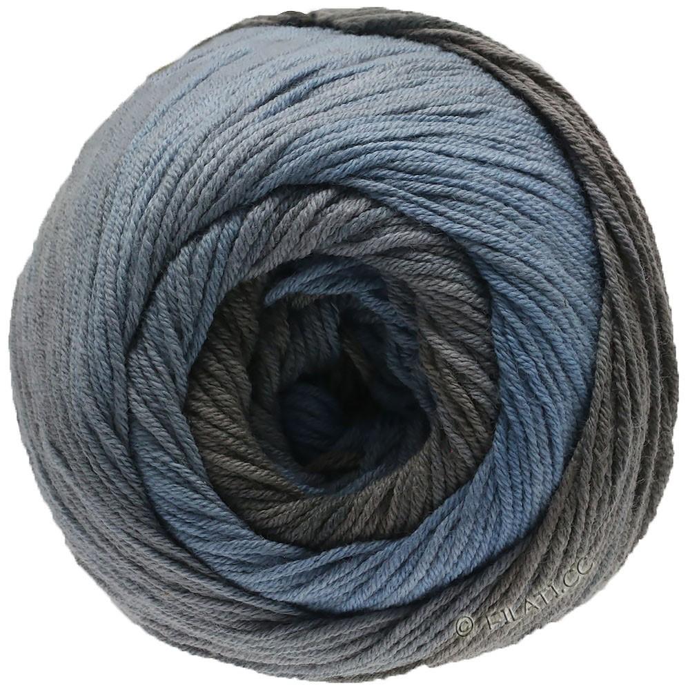 Lana Grossa ELASTICO Degradé | 712-azul humo/gris medio/gris marrón