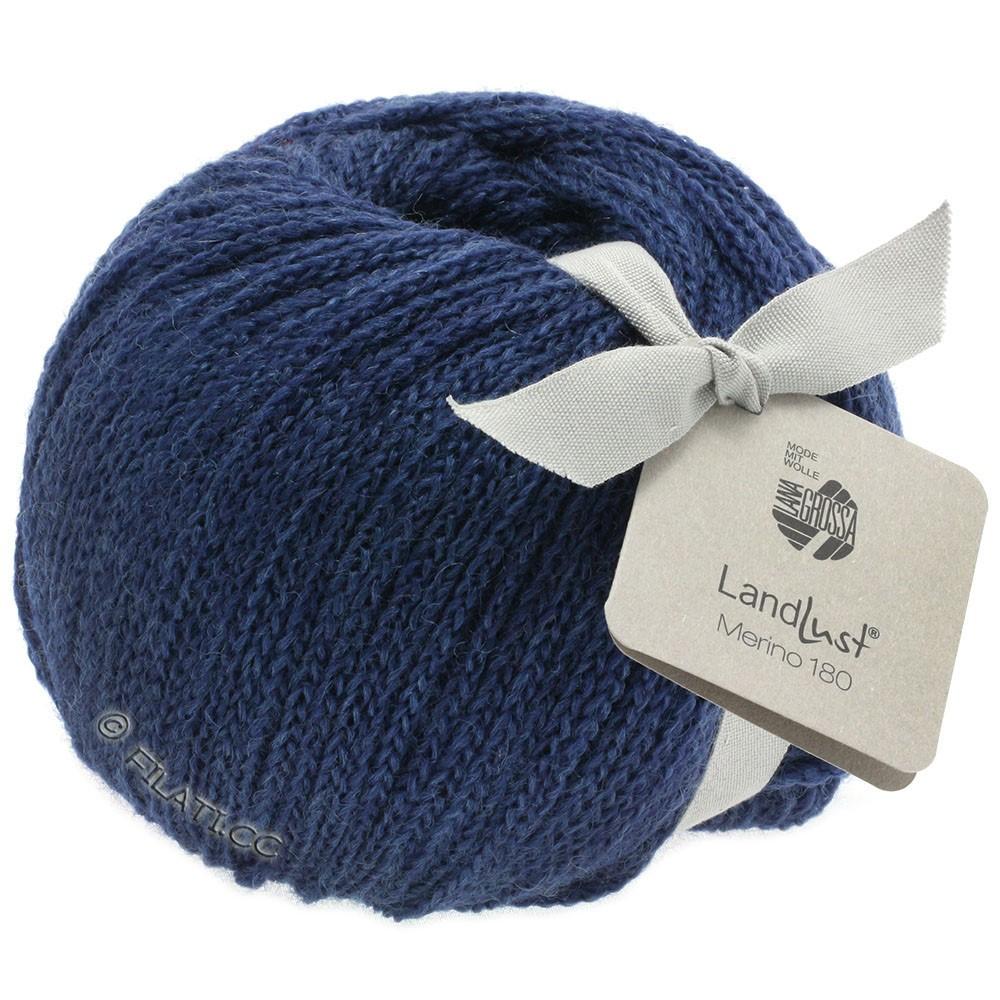 Lana Grossa LANDLUST MERINO 180   208-azul oscuroro