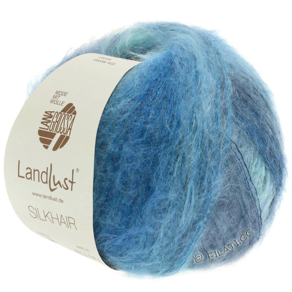 Lana Grossa LANDLUST SILKHAIR   360-azul claro/turquesa/azul humo/azul octanaje