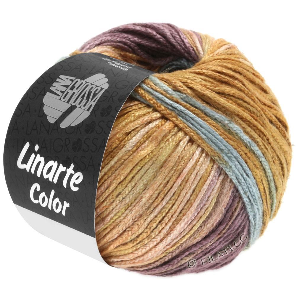 Lana Grossa LINARTE Color | 201-turquesamenta/rojo beige/violeta antigua/ocre moreno
