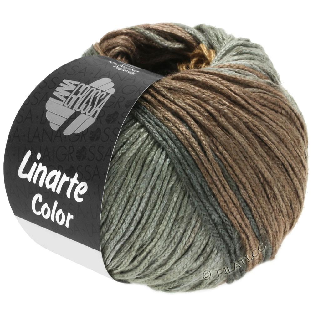 Lana Grossa LINARTE Color | 202-beige/gris marrón/gris verde/grafito