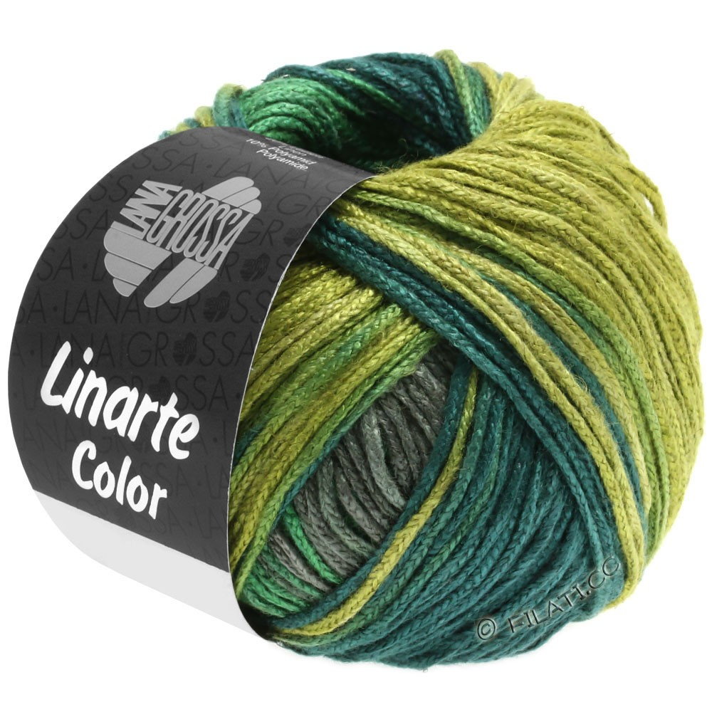 Lana Grossa LINARTE Color | 205-oliva/verde/octanaje/grafito