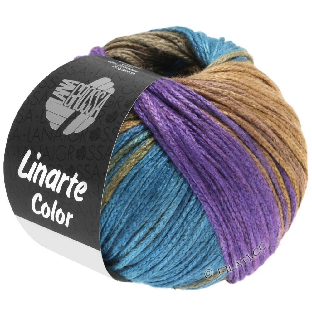 Lana Grossa LINARTE Color | 208-violeta/octanaje/caqui/amarillo arena