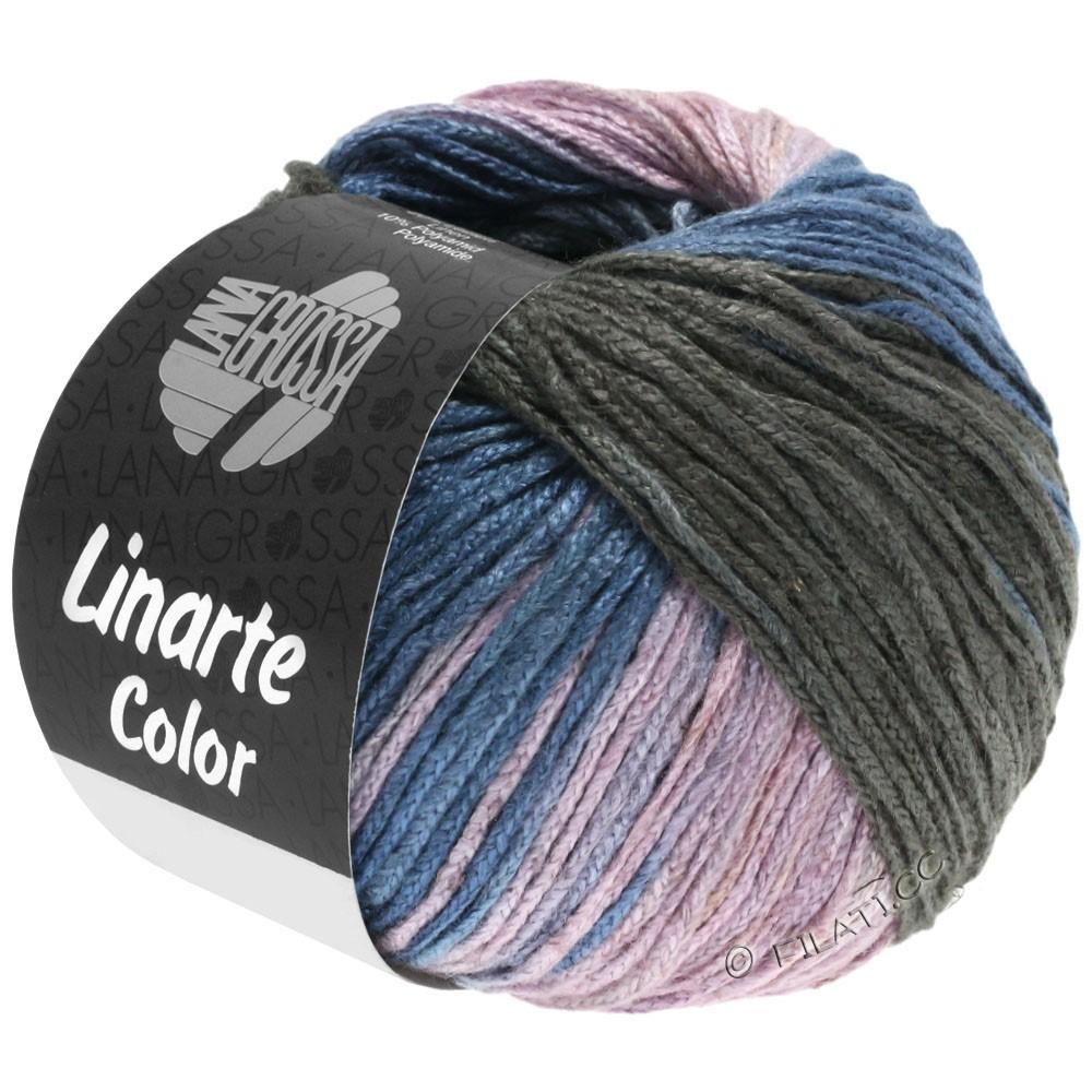 Lana Grossa LINARTE Color | 209-gris azul/grafito/rosé/caqui