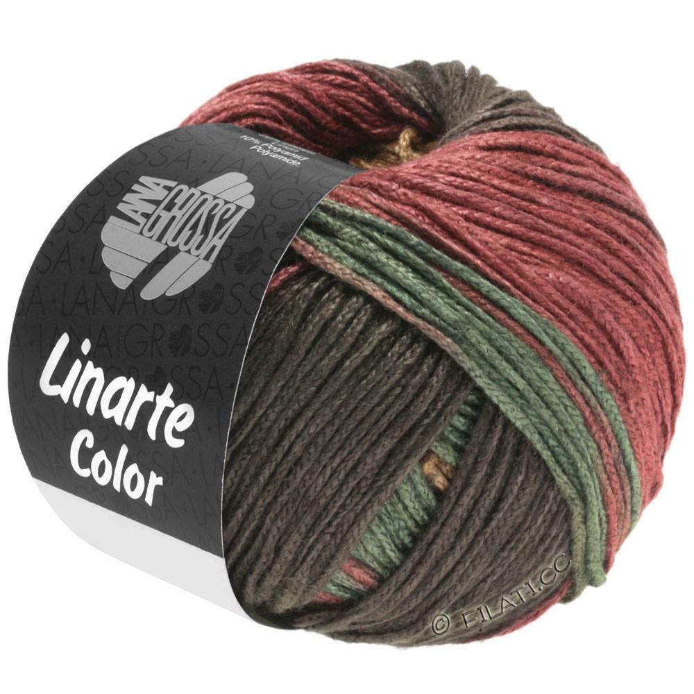 Lana Grossa LINARTE Color | 211-moca/arena/rojo marrón/verde reseda