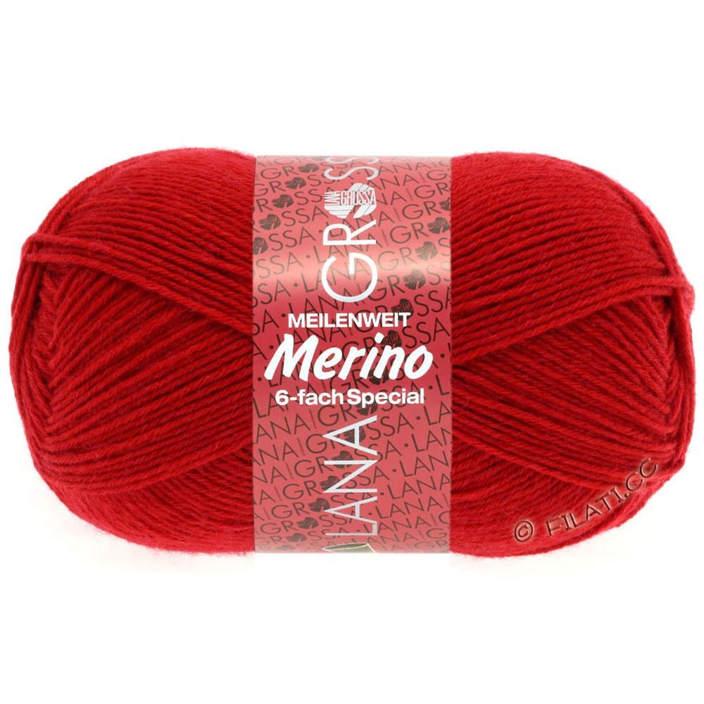 Lana Grossa MEILENWEIT 6-FACH 150g Merino   1-rojo