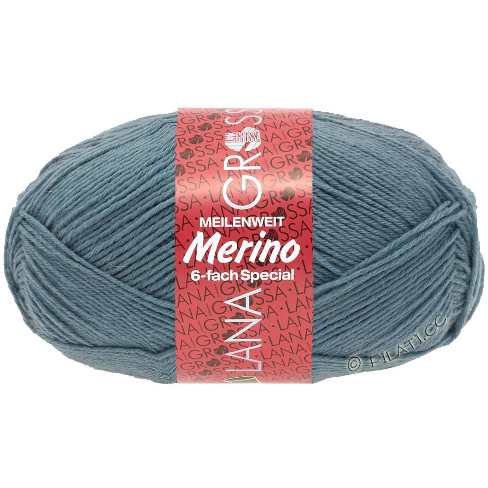 Lana Grossa MEILENWEIT 6-FACH 150g Merino   3-azul paloma