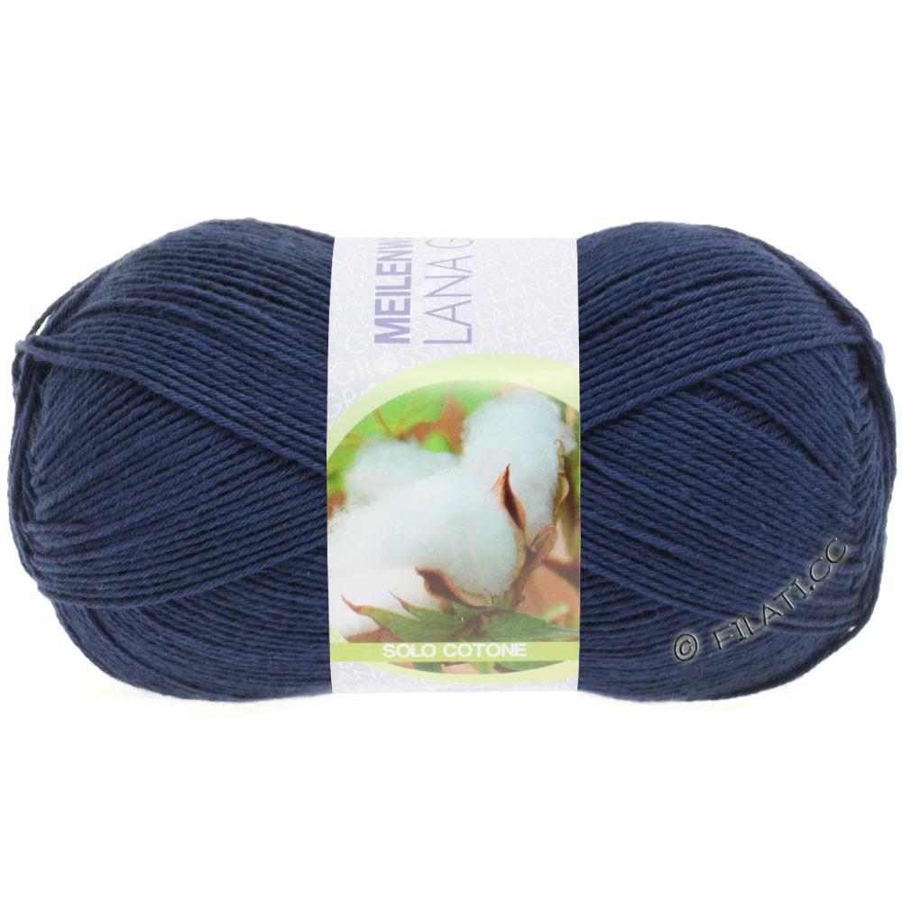 Lana Grossa MEILENWEIT 100g Solo Cotone Unito | 3458-azul oscuroro