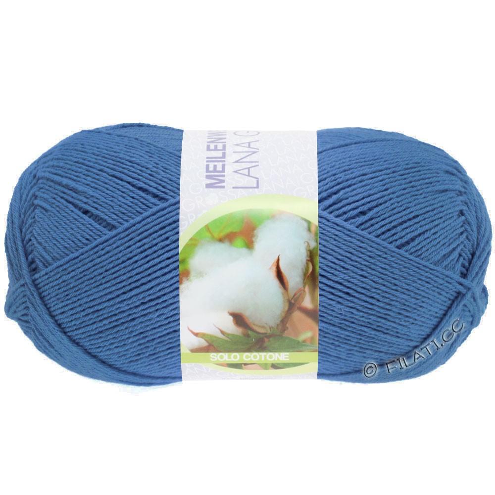 Lana Grossa MEILENWEIT 100g Solo Cotone Unito | 3467-azul