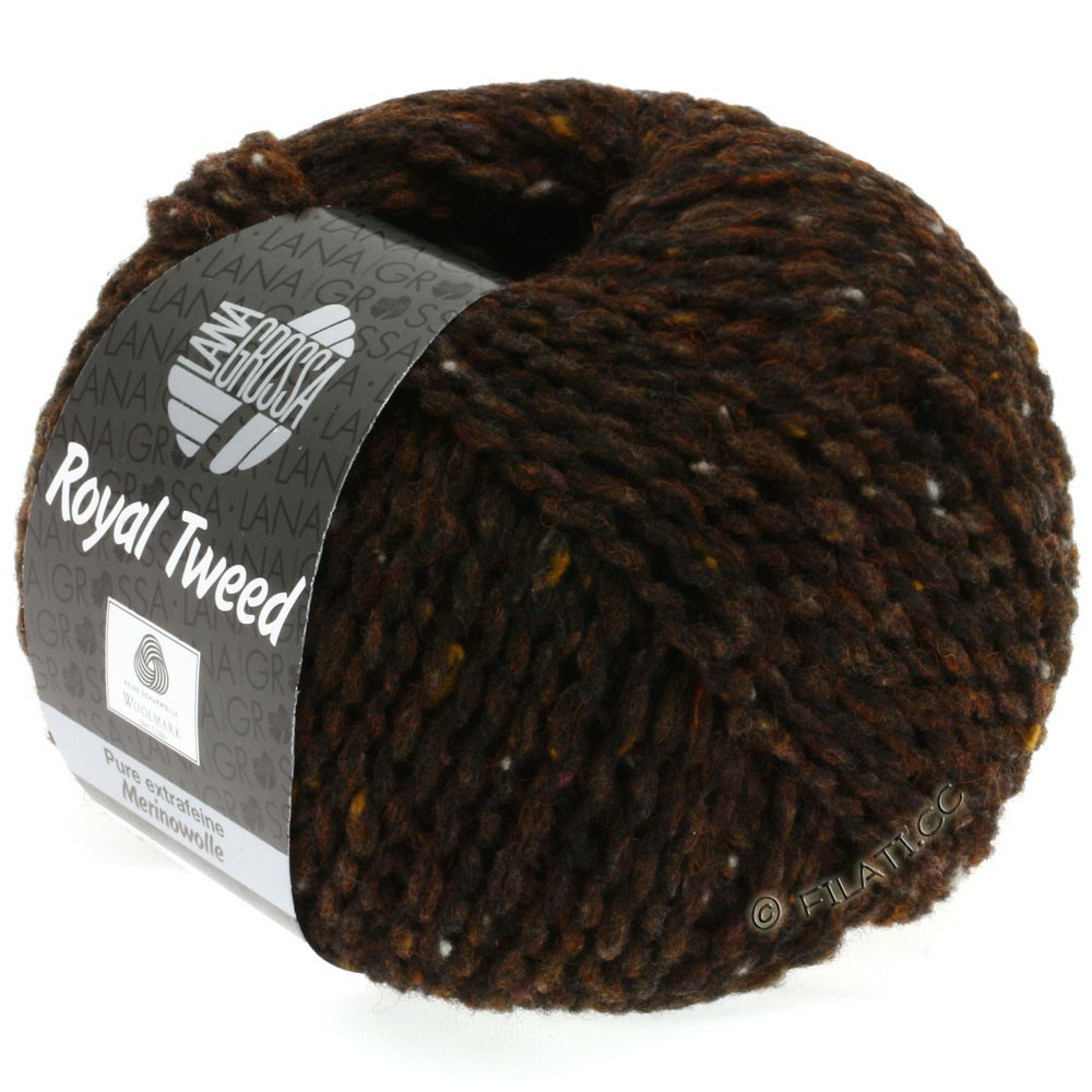 Lana Grossa ROYAL TWEED   09-marrón oscuro mezcla