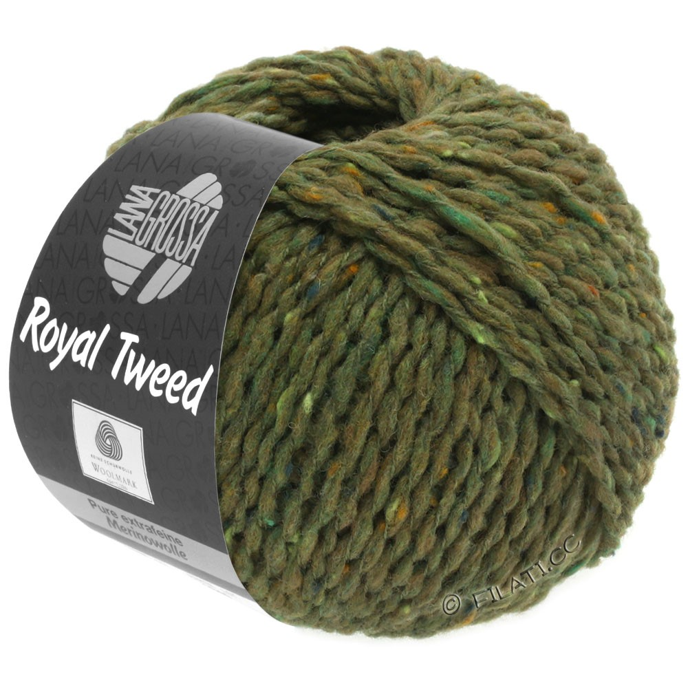 Lana Grossa ROYAL TWEED   69-oliva mezcla