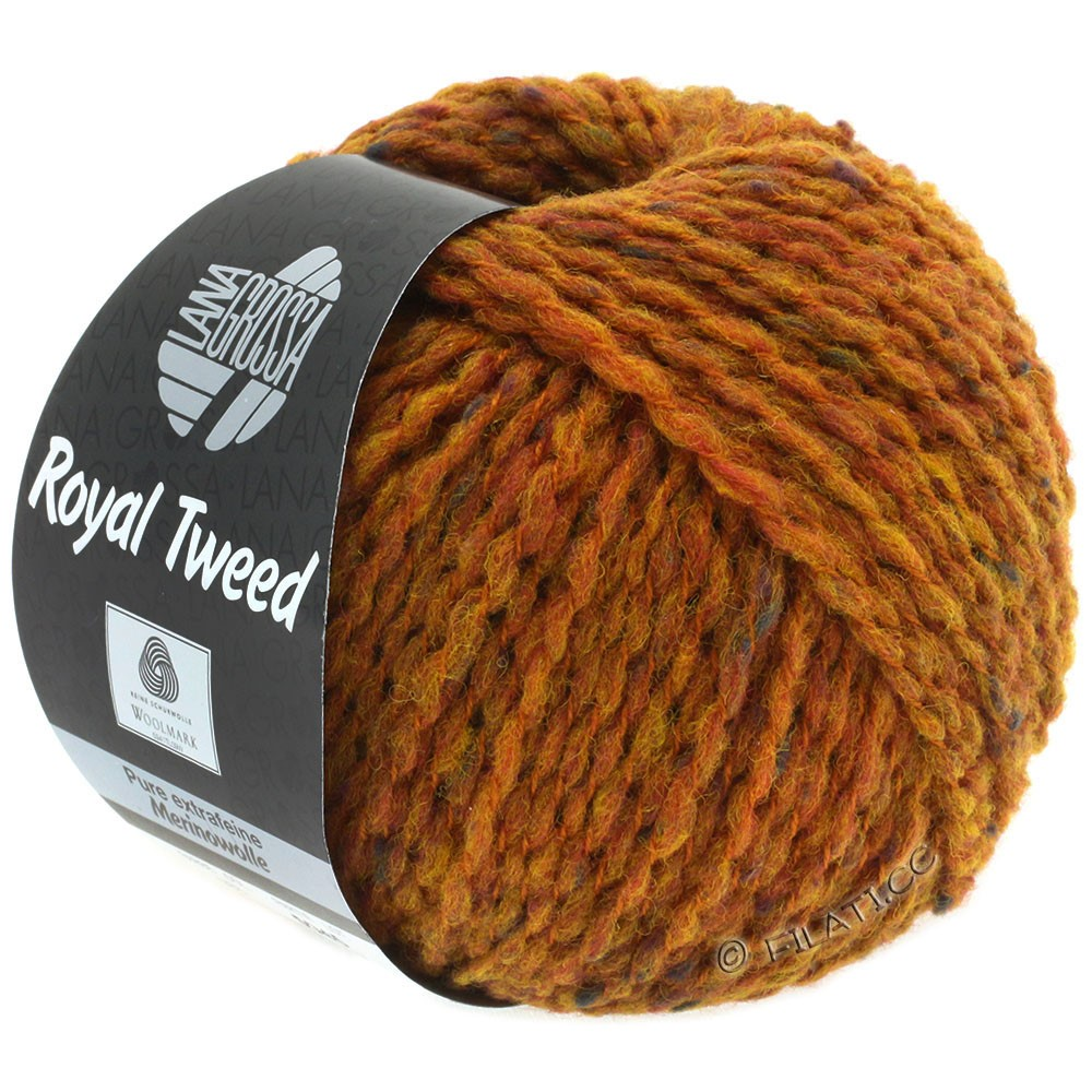 Lana Grossa ROYAL TWEED   86-marrón oro mezcla