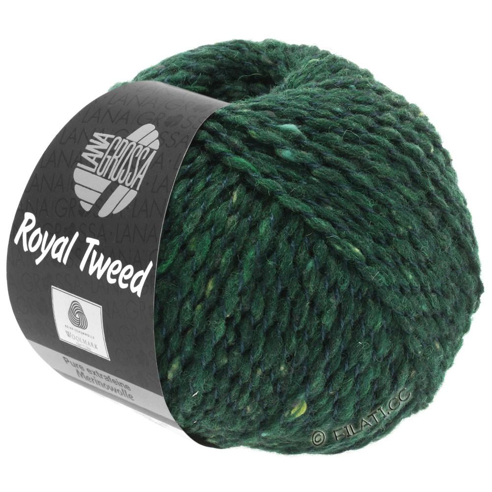 Lana Grossa ROYAL TWEED   90-verde oscuro mezcla