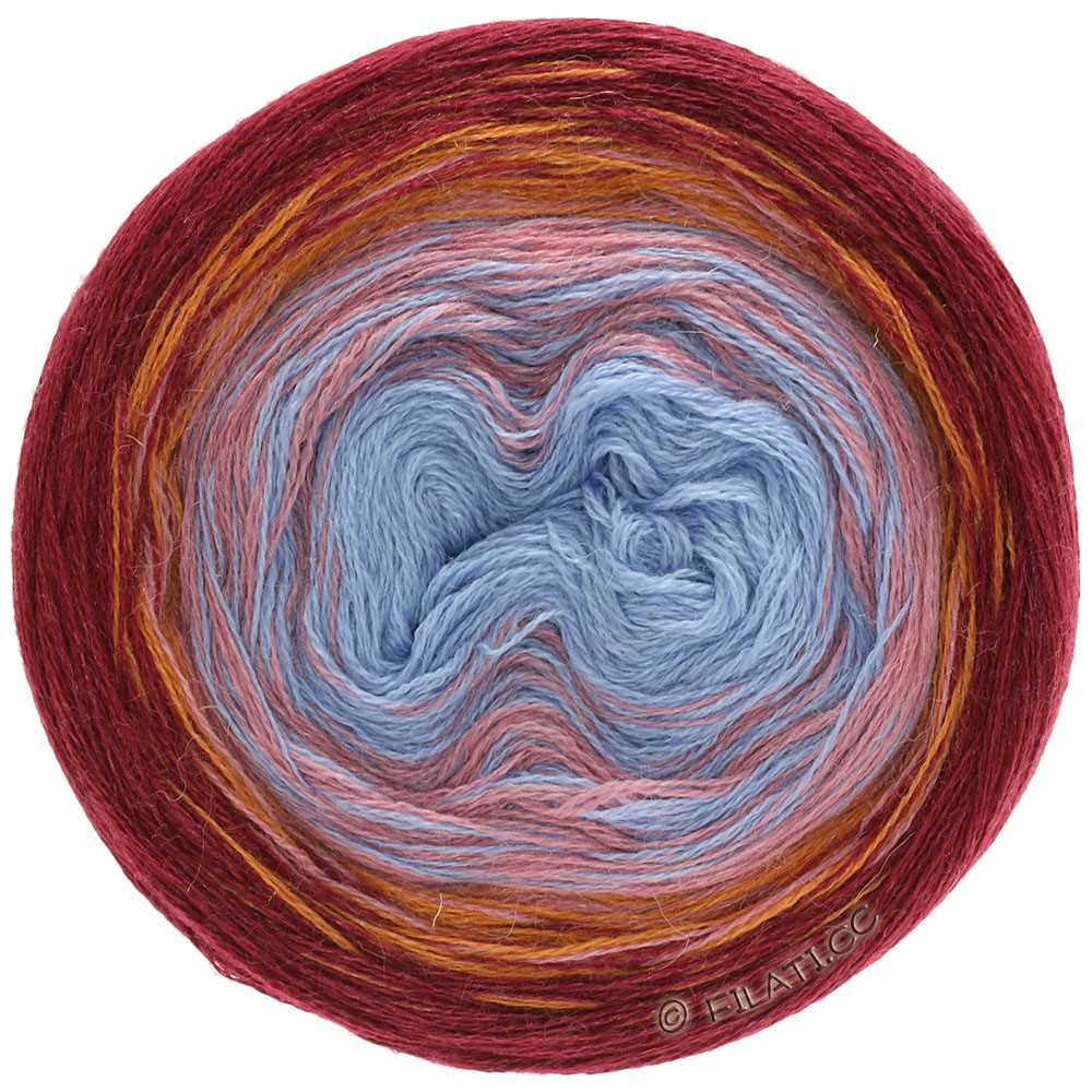 Lana Grossa SHADES OF ALPACA SILK   301-burdeos/naranja/rosa beige/azul