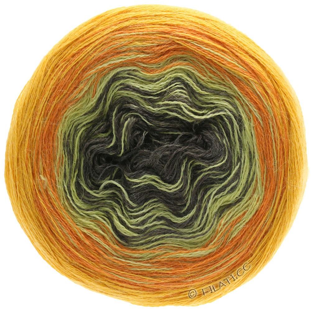 Lana Grossa SHADES OF ALPACA SILK   308-amarillo sol/naranja/mostaza/moca