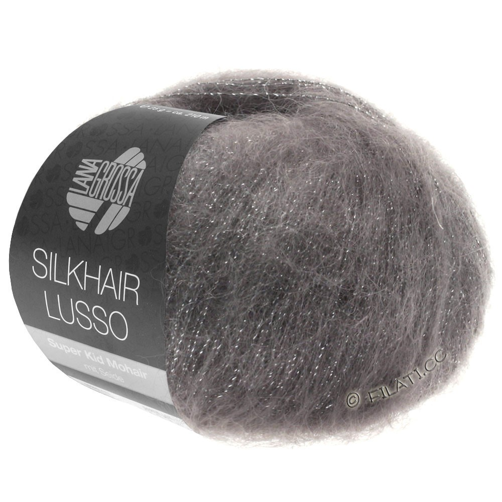 Lana Grossa SILKHAIR Lusso | 906-grafito